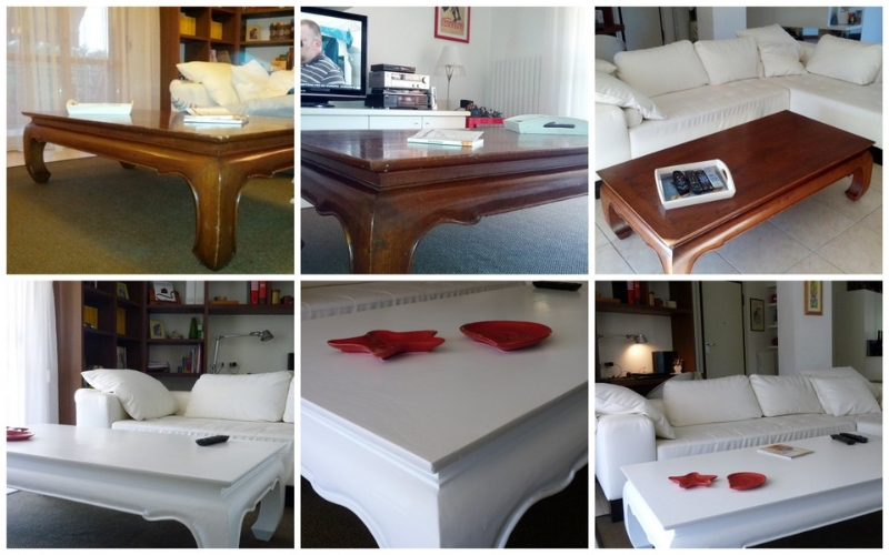 Tavolino restaurato prima e dopo with verniciare mobili - Verniciare mobili ...